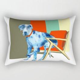 Great Dane in Chair #1 Rectangular Pillow