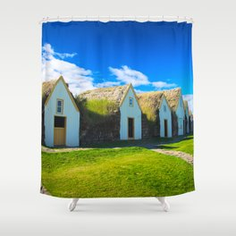 Traditional icelandic farmhouse Shower Curtain