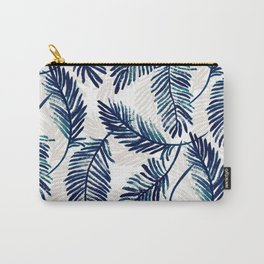 """Blue palm leaves pattern """"Pamela"""" Carry-All Pouch"""