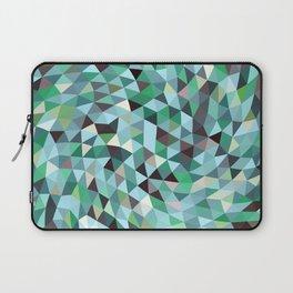 Green Blue Triangles Mosaic Circulation Laptop Sleeve