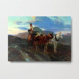 """California or Oregon"" by Frank Tenney Johnson Metal Print"