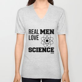 Science research man funny love gift Unisex V-Neck