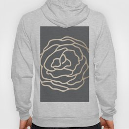 Rose White Gold Sands on Storm Gray Hoody