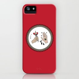 Evil Eye & Sword Hands in Frame iPhone Case