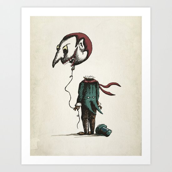And His Head Swelled with Pride... Art Print