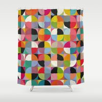 circle Shower Curtains featuring Circle by Helene Michau