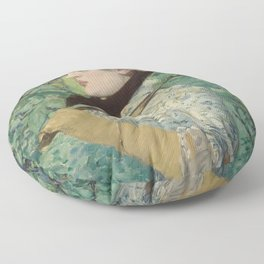 Edouard Manet - Spring Floor Pillow