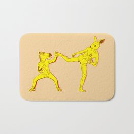 Horse-Dude versus Kick-Bunny Bath Mat