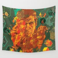 android Wall Tapestries featuring Deckard by Beery Method