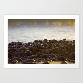 Beach Rocks Art Print