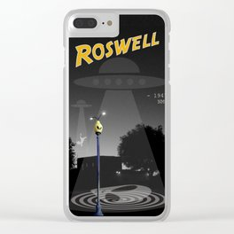 Aliens Over Roswell Clear iPhone Case