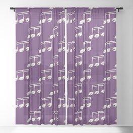 Sounds O.K. (off key) Sheer Curtain