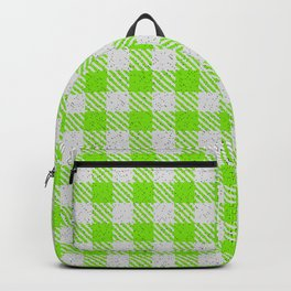 Lawn Green Buffalo Plaid Backpack