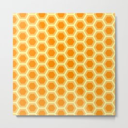 Hexagon Honeycomb Simple Nature Geometric Shapes in Nature Spirit Organic Metal Print