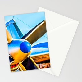 Twin propellers of a vintage aircraft Stationery Cards