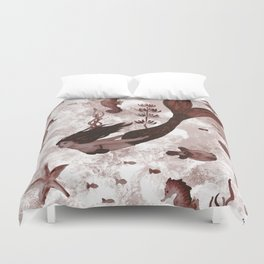 Under the Sea (Maroon) Part 2 Duvet Cover