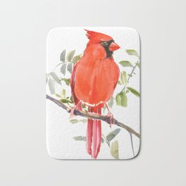 Cardinal Bird homde decor Bath Mat