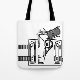 Gun in Holster Tote Bag