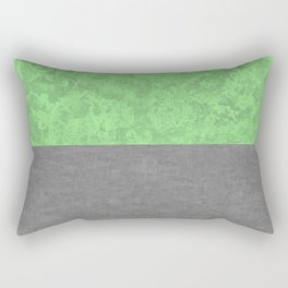 Mint Concrete and Marble Texture Rectangular Pillow