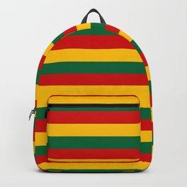 lithuania benin burkina faso flag stripes Backpack