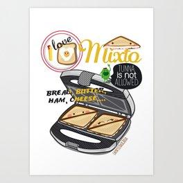 I LOVE MIXTO Art Print