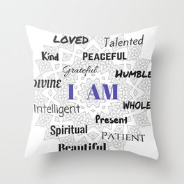I AM... Positive Affirmation Throw Pillow