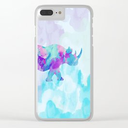 Abstract Rhino B Clear iPhone Case
