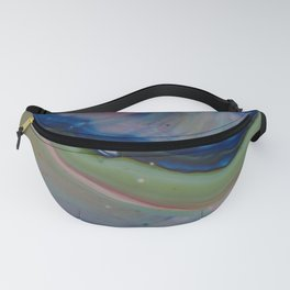 Fluid Nature - Gentle Shores - Abstract Acrylic Pour Art Fanny Pack