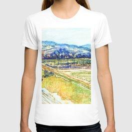 Stanislaw Wyspianski - View of the Kosciuszko Mound in Krakow from the Window in the Artist's Studio - Digital Remastered T-shirt
