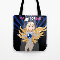 artrave Tote Bags featuring artRAVE - ARTPOP by Aldo Monster