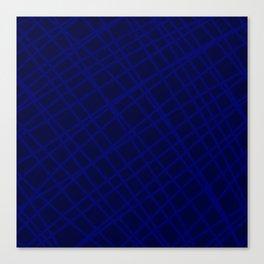 Indigo Criss-Cross Lines Canvas Print