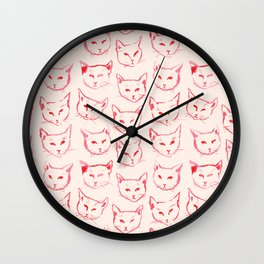 Red Cat Wall Clock