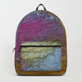 Gold Silver Rose Gold Pink Abstract Painting Backpack