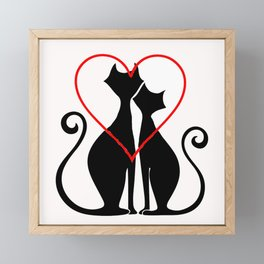 Amor felino Framed Mini Art Print