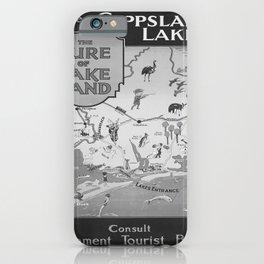 retro vintage Gippsland Lakes poster iPhone Case