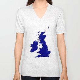 U.K. and Southern Ireland Silhouette Unisex V-Neck