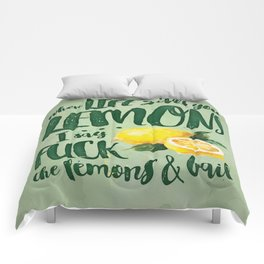 When Life Gives you Lemons... Comforters