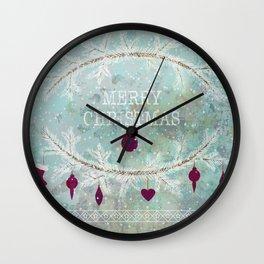 New Year. Grunge blue . Wall Clock