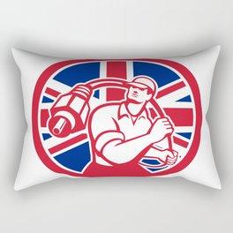 British Cable Installer Union Jack Flag Icon Rectangular Pillow