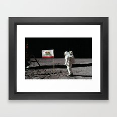 California Republic Flag on the Moon Framed Art Print