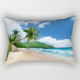 Tropical Landscape at Mahé  Island, Seychelles Rectangular Pillow