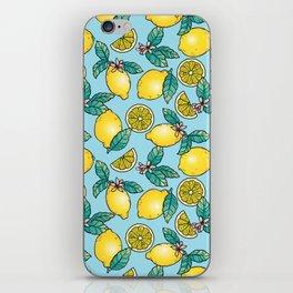 Tropical Vibe Lemon Pattern iPhone Skin
