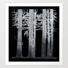 Dark Woods Art Print