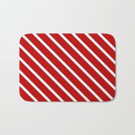 Chilli Diagonal Stripes Bath Mat