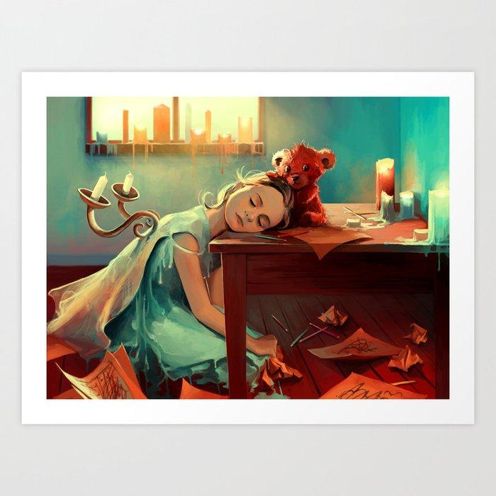 When she was six Art Print
