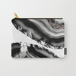 Agate Rose Gold Glitter Glam #2 #gem #decor #art #society6 Carry-All Pouch