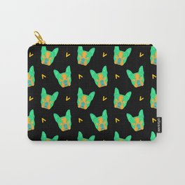 boston terrier - blk pattern Carry-All Pouch
