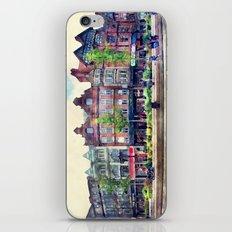 Nottingham panorama city watercolor iPhone & iPod Skin