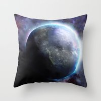 planet Throw Pillows featuring Planet by Øyvind Lien