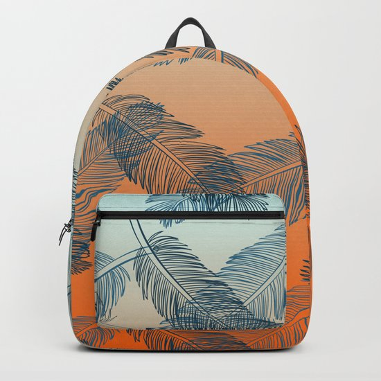 Blue Feathers Backpack